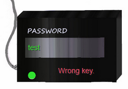 Pay TV wrong key